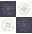 Guilloche elements vector image vector image