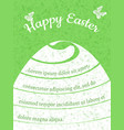 happy easter gift card template vector image vector image