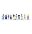 horizontal banner with happy business people vector image