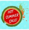 Hot summer sale template vector image vector image
