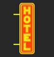 hotel luminous signboard against the background of vector image