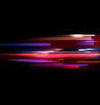 image of colorful light trails with motion vector image vector image