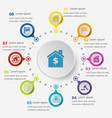 infographic template with real estate icons vector image