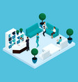 isometry doctors office hospital vector image