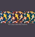 koi carp fishes seamless set asian underwater vector image vector image