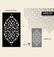 laser cut pattern stencil vector image vector image