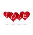 love heart backgrounds vector image vector image