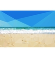 low poly day beach background vector image vector image