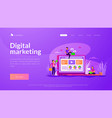 marketing landing page template vector image vector image
