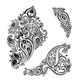 Paisley background hand drawn ornament