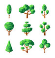 poly tree green nature season plants vector image vector image