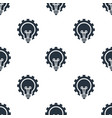 seamless bulb with gear pattern education symbol vector image