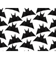 seamless pattern with 3d of origami bat on white vector image vector image