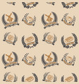seamless pattern with bakery emblems design vector image vector image