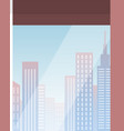 skyscraper building in city space on flat style vector image vector image