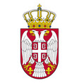 small coat arms serbia vector image vector image