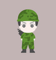 soldier cartoon flat design vector image vector image