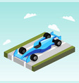 sport car on road isometric vector image vector image