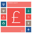 sterling symbol icon elements for your design vector image vector image