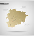 stylized andorra map vector image vector image