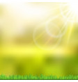 sunny background with green nature vector image