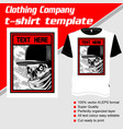 t-shirt template fully editable with gangster vector image