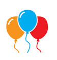three balloon icon on white background balloon vector image vector image