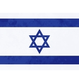 True proportions Israel flag with texture vector image vector image