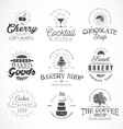 Typographical Bakery Coffee and Drinks Badges vector image