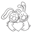 Valentine bunnies vector image vector image