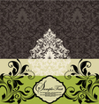 wedding card on damask background vector image vector image