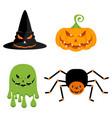 evil halloween characters vector image