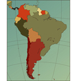 south america map vector image