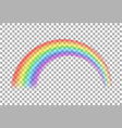 transparent realistic colorful rainbow vector image