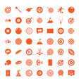 49 goal icons vector image vector image