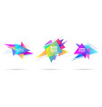 abstract graphic triangle shape template banners vector image vector image