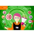 Advertising expert of marketing profession series vector image