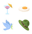 alcohol bird and other web icon in cartoon style vector image vector image