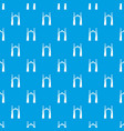 archway elf pattern seamless blue vector image vector image