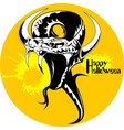 black snake halloween vector image vector image