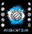 black sport balls grunge set vector image vector image