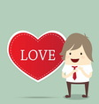 business man with red heart married wedding invita vector image vector image