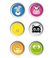buttons animals vector image vector image