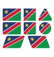 buttons with flag of Namibia vector image vector image