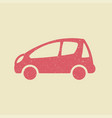 car icon in grunge style vector image