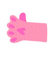cat paw shows like sign doodle cartoon vector image