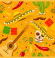 cinco de mayo yellow seamless pattern vector image vector image