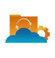 cloud computing folder file reload setting vector image vector image