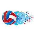 colorful olympic flame with stars and volleyball vector image vector image