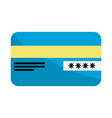 credit card financial and security transaction vector image vector image